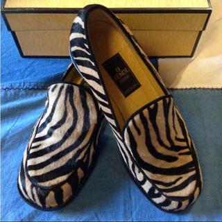 フェンディ(FENDI)のネロリ様専用♡フェンディ 22.5cm ハラコシューズ(ローファー/革靴)