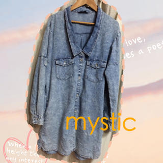 ミスティック(mystic)のmystic☆デニムワンピ(ひざ丈ワンピース)