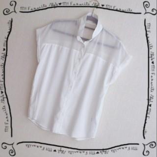 ジーユー(GU)の新品♡GUしふぉんしゃつ(シャツ/ブラウス(半袖/袖なし))