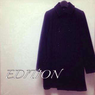 エディション(Edition)のEdition ブラックAラインコート(ピーコート)