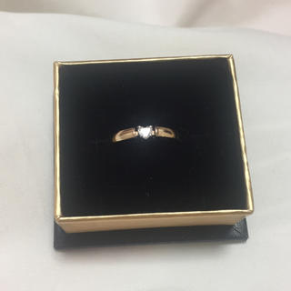 スタージュエリー(STAR JEWELRY)のスタージュエリー♡型一粒ダイヤリング(リング(指輪))