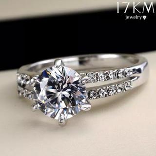 ワケあり 新品CZダイヤモンドリング シルバークリスタルジルコン(リング(指輪))