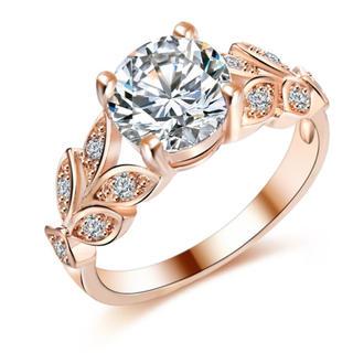 ワケあり 新品CZダイヤモンドリング ゴールドクリスタルジルコン(リング(指輪))