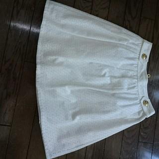 バーバリー(BURBERRY)のブルレのコットンレーススカート‼️(ひざ丈スカート)