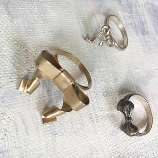グリモワール(Grimoire)のリボンの指輪セット♡ゴールド、シルバー(リング(指輪))