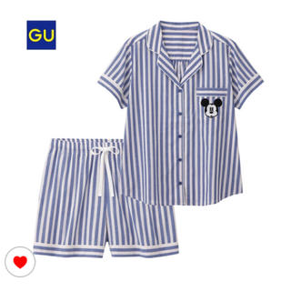 ジーユー(GU)の新品未使用!完売品♡ストライプミッキーパジャマ(パジャマ)