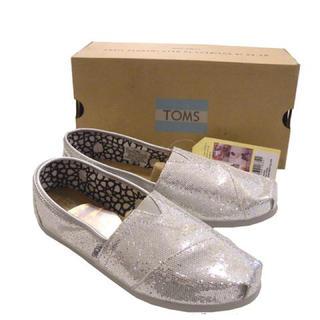 トムズ(TOMS)のTOMS トムス/新品/レディース/シルバーグリッター23cm(スニーカー)