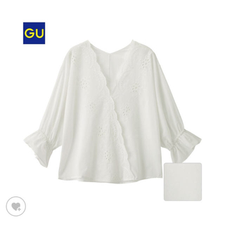 ジーユー(GU)のGUスカラップレースブラウス☆(シャツ/ブラウス(半袖/袖なし))