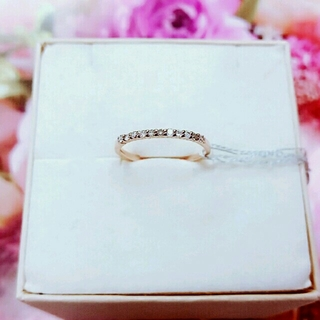 【新品訳あり】K10 ダイヤモンドハーフエタニティリング(リング(指輪))