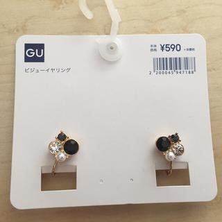 ジーユー(GU)のGU ビジューイヤリング 09 Black(イヤリング)