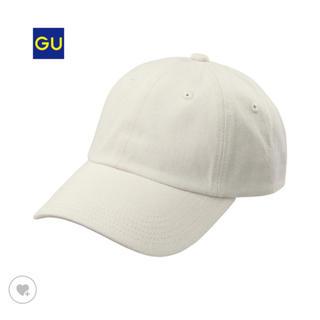 ジーユー(GU)のGU ローキャップ デニム オフホワイト 今期 完売品★(キャップ)