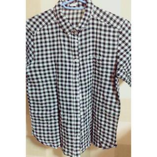 ジーユー(GU)のギンガムチェックシャツ(シャツ/ブラウス(半袖/袖なし))