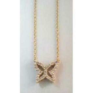アーカー(AHKAH)の新品 AHKAH VC バタフライダイヤモンドネックレス K18YG アーカー(ネックレス)