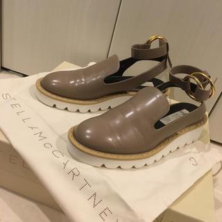 ステラマッカートニー(Stella McCartney)の美品 ステラマッカートニー サンダル フラットシューズ レザー 革靴(サンダル)