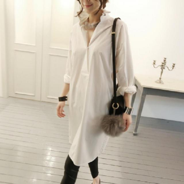 爽やか☆シャツワンピース シャツワンピ 白☆KBF BEAMS SHIPS☆S レディースのワンピース(ひざ丈ワンピース)の商品写真