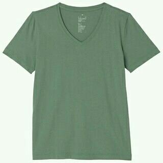 ムジルシリョウヒン(MUJI (無印良品))の【新品未使用】無印良品 VネックTシャツ(Tシャツ(半袖/袖なし))