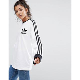アディダス(adidas)の【新品】1点のみ♡UK8サイズadidas originals 3ライン ロンT(Tシャツ(長袖/七分))
