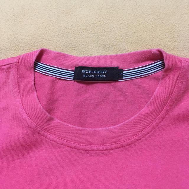 BURBERRY(バーバリー)のバーバリーブラックレーベル Tシャツ ピンク メンズのトップス(Tシャツ/カットソー(半袖/袖なし))の商品写真