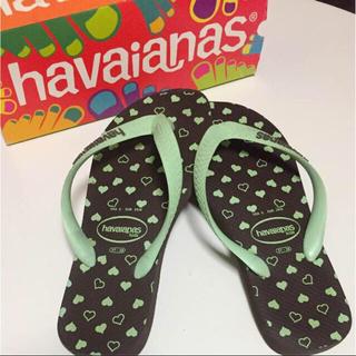 ハワイアナス(havaianas)のMAXsale‼️《比較的美品》ハワイアナス★ビーチサンダル/ハート柄(ビーチサンダル)