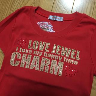 バイバイ(ByeBye)のバイバイ tシャツ 赤 m レース ゴールド(Tシャツ/カットソー(半袖/袖なし))