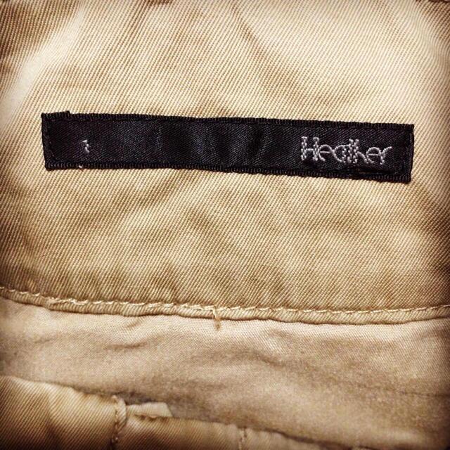 heather(ヘザー)の【美品】heather ベルト付きパンツ ベージュ レディースのパンツ(クロップドパンツ)の商品写真