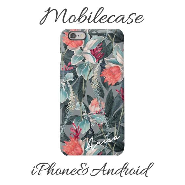 adidas iphone8plus ケース 手帳型 | 名入れ可能♡スモーキーフラワー柄スマホケース♡iPhone以外も対応機種多数♡の通販 by welina mahalo|ラクマ