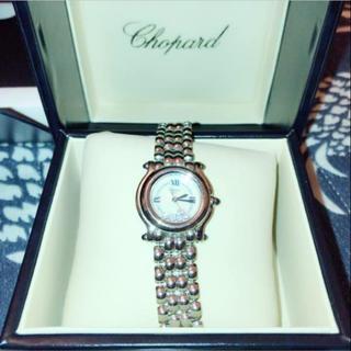ショパール(Chopard)のariel様専用 美品 ショパール ハッピースポーツ 5P ダイヤモンド(腕時計)