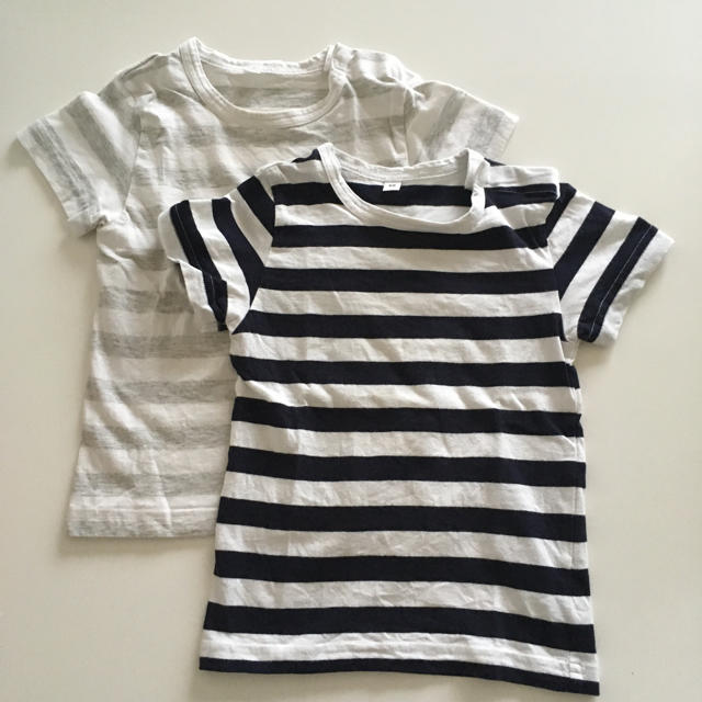MUJI (無印良品)(ムジルシリョウヒン)の無印☺︎キッズ Tシャツ2枚セット キッズ/ベビー/マタニティのキッズ服 男の子用(90cm~)(Tシャツ/カットソー)の商品写真
