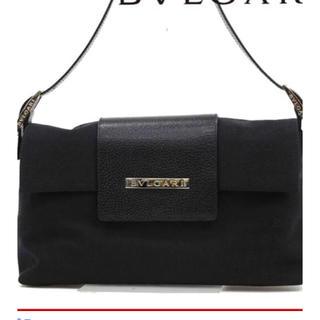 556a89e1648a ブルガリ(BVLGARI)の美品✩BVLGARI ロゴマニア ハンドバッグ ショルダーバッグ 黒 2way