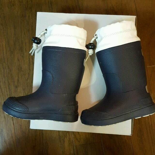 13~14cm無印良品ネイビーレインシューズ長靴レインブーツ