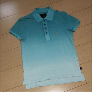 イズリール(IZREEL)のIZREEL イズリール ポロシャツ グリーン系グラデーション サイズ44(ポロシャツ)