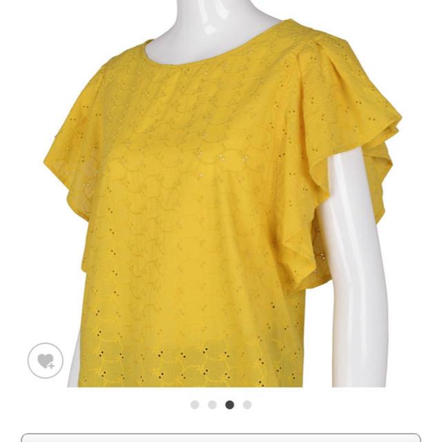 GU(ジーユー)のコットンレースフリルスリーブブラウス レディースのトップス(シャツ/ブラウス(半袖/袖なし))の商品写真