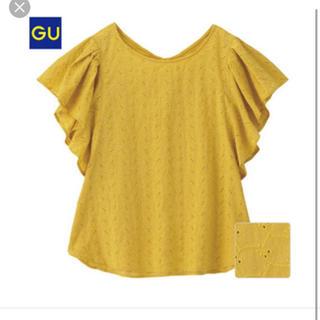 ジーユー(GU)のコットンレースフリルスリーブブラウス(シャツ/ブラウス(半袖/袖なし))