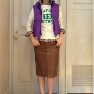 アパルトモンドゥーズィエムクラス(L'Appartement DEUXIEME CLASSE)の新品同様☆L'appertment DEUXIEM lisiere スカート(ひざ丈スカート)