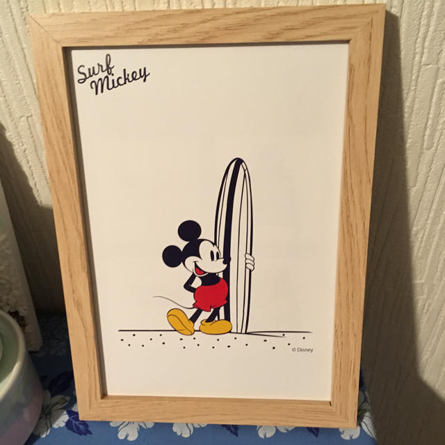 Disney(ディズニー)の平日sale‼︎ サーフミッキー  インテリアポスター エンタメ/ホビーのアニメグッズ(ポスター)の商品写真