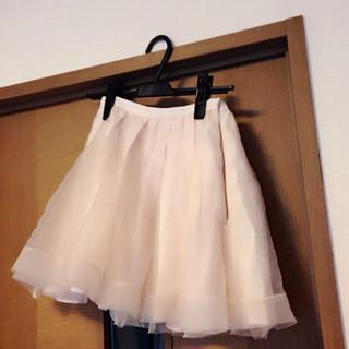 マーキュリーデュオ(MERCURYDUO)のマーキュリーデュオ オーガンジースカート(ミニスカート)