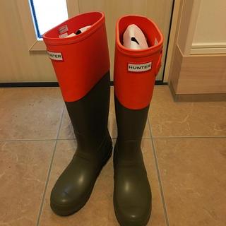 ハンター(HUNTER)のHUNTER バイカラーラバーブーツ(レインブーツ/長靴)