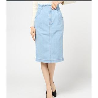 ミスティウーマン(mysty woman)のストレッチデニムタイトスカート (ひざ丈スカート)