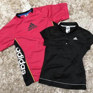 アディダス(adidas)のadidas スポーツウェア 半袖 ピンクのみ(ウェア)
