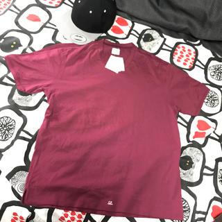 シーピーカンパニー(C.P. Company)の値下げ!新品タグ付き!C.P.COMPANY♢ワインレッドTシャツ(Tシャツ/カットソー(半袖/袖なし))
