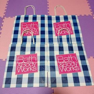 バスアンドボディーワークス(Bath & Body Works)の【送料無料】ショップ袋 4枚セット ギフトバッグ(ショップ袋)