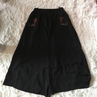 シマムラ(しまむら)の刺繍ガウチョパンツ(その他)