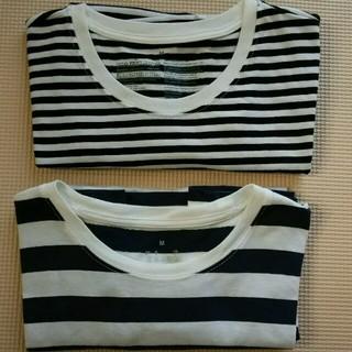ムジルシリョウヒン(MUJI (無印良品))の無印良品ボーダーTシャツM  2枚セット(Tシャツ(半袖/袖なし))