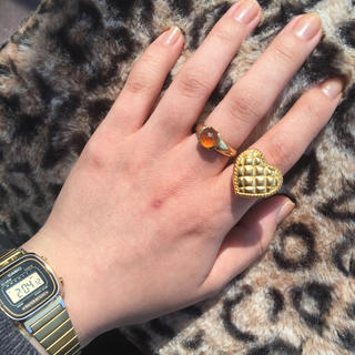 【大人気リング】gold quilting heart ring(リング)