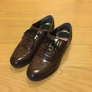 ジーユー(GU)のgu オックスフォードシューズ Sサイズ brown おじ靴(ローファー/革靴)