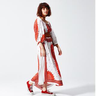 シェル(Cher)のシェルショア sherchore 完売 ボヘミアンワンピースロング(ロングワンピース/マキシワンピース)