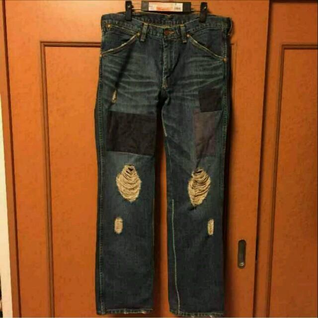 NUMBER (N)INE(ナンバーナイン)のナンバーナイン♪ダメージ&パッチワーク グランジデニムパンツ(^_^)v メンズのパンツ(デニム/ジーンズ)の商品写真