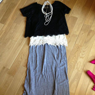 ミスティウーマン(mysty woman)のミスティウーマン レーストップス(Tシャツ(半袖/袖なし))