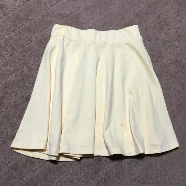 フレアスカート♡イエロー レディースのスカート(ミニスカート)の商品写真