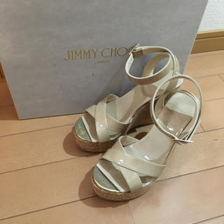 ジミーチュウ(JIMMY CHOO)のe-☆様専用ジミーチュウ ウェッジソールサンダル34(サンダル)